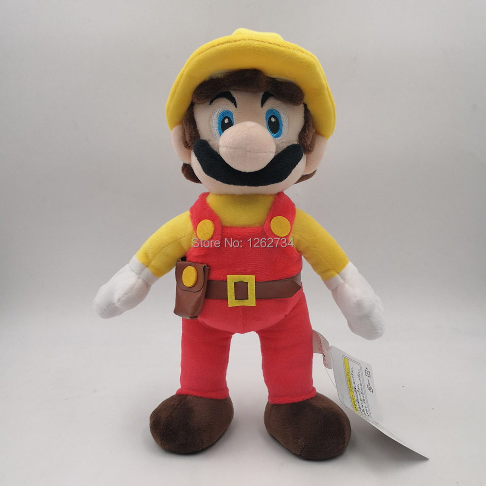 Super Mario Bros Maker Mario 11 28CM Soft Gifts Plush Doll Figure Retail image