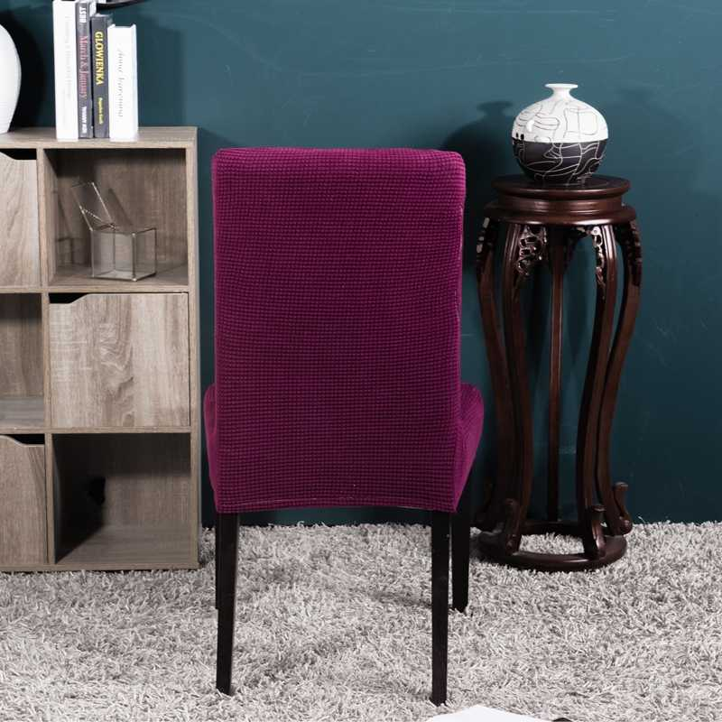 Color puro silla con funda extraíble cubierta elástico grande Slipcover moderna funda de asiento de cocina Stretch Chair Cover para banquete envío gratis