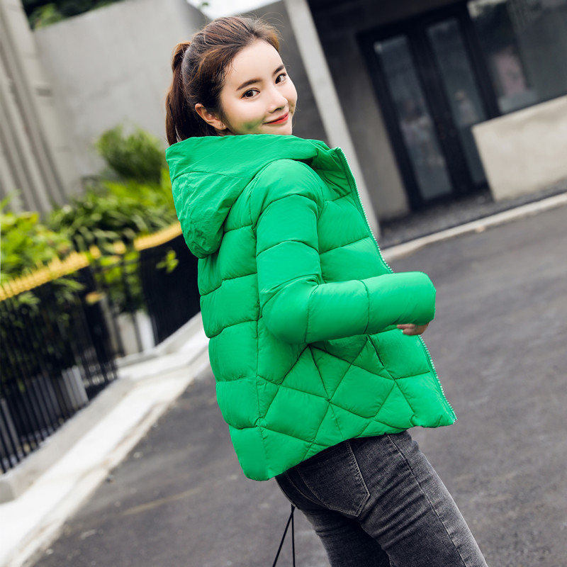 Cheap Autumn Winter Coats Female Coat Jackets For Women Fashion Short   Parka   Outerwear Down Quilted Puffer Jacket Harajuku Korean