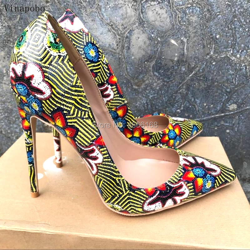 Brand Fashion Women Pumps green Snake Printed Women Shoes Sexy 12CM High Heels 2019 Pointed Toe