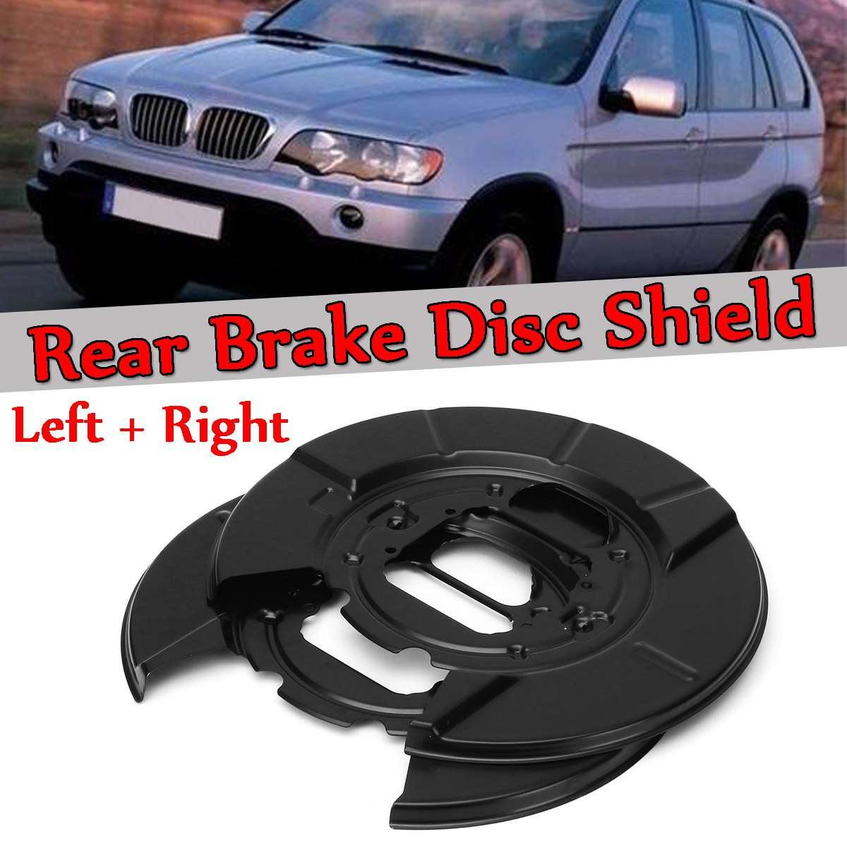 Une Paire Nouveau Arrière disque de frein Bouclier Shell Pour BMW X5 E53 2000-2006 Noir etrier de frein et Frein Esclave A1080