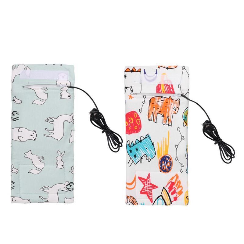 USB Baby Bottle Warmer Portable Milk Travel Cup Warmer Heater Infant Feeding Bottle Bag Storage Cove
