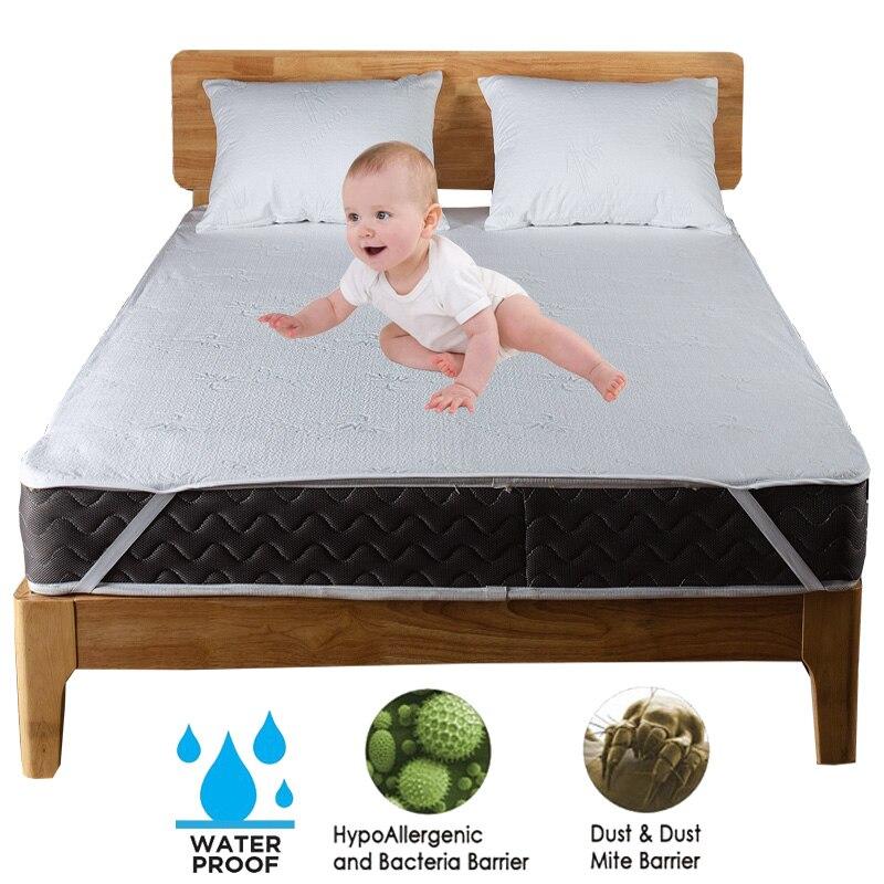 Turetrip Bamboo Fiber Waterproof Bed Protector Mattress Single Bed Sheets With Band Anti Mites Sheet Mattress Cover