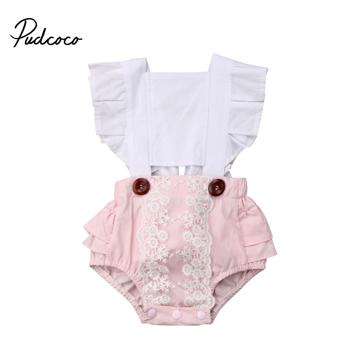 2019 Baby Girl Summer Clothing Lace Dot Flower Backless Romper Jumpsuit  Outfits For Newborn  Clothes Children Kid Toddler