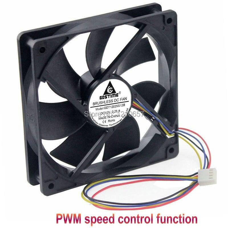 1PCS Gdstime Hydraulic 120mm X 25mm 12cm PWM FG Computer Case Cooling Fan 4 Pin Cooler