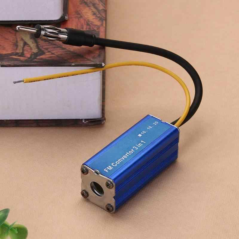 Universal 12V 3 in 1 Car Frequency Antenna Radio FM Band Expander Car Auto Stereo Antenna FM Radio Band Frequency Converter