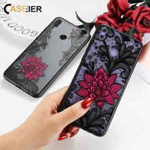 CASEIER Emboss Phone Case For Huawei P Smart 2019 P30 P20 Pro Lire  Lace Flower Mate 20 10 9 Lite Cover