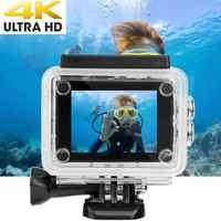 4K 2.0in ekran dotykowy kamera akcji 140 obiektyw HD WiFi Action Cam 30m podwodna wodoodporna kamera kamera sportowa aksiyon kamera