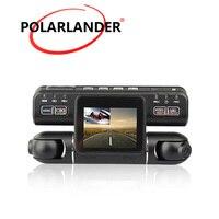 Driving Video Recorder 360 Degree Dash Cam Outside Inside both Recording Left 1080P Right 480P i4000 Car DVR Dual Lens