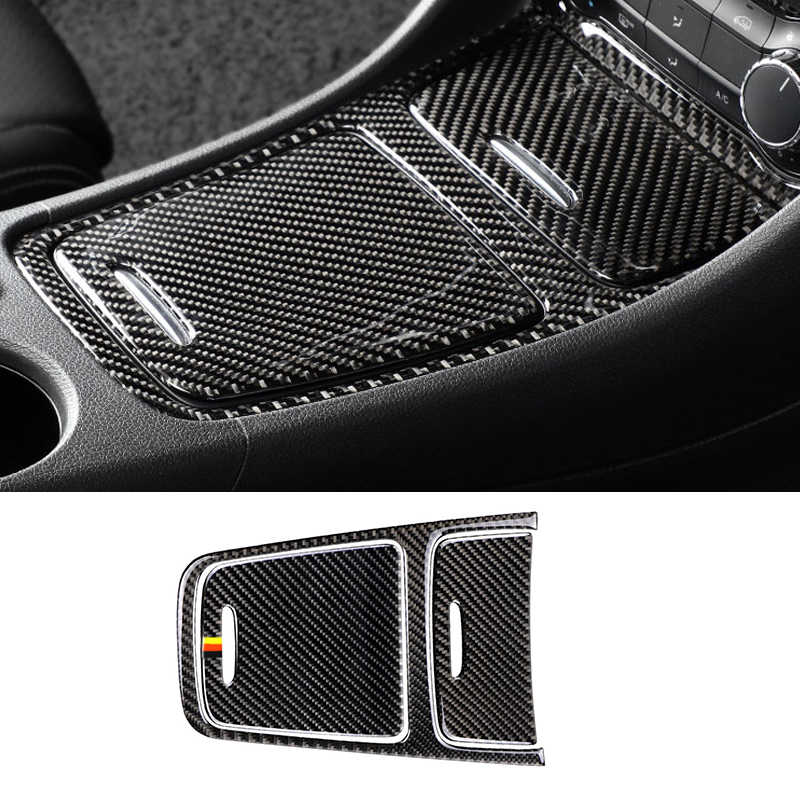 ABS Central Storage Box Frame Central Control Car Panel Kit Fit for Mercedes Benz CLA 14-18 Suuonee Car Cup Panel Cover