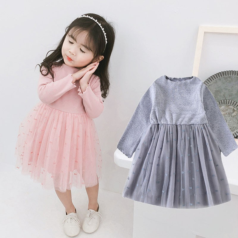 Baby Girl Grey Dress