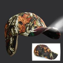 LAIDEYI светодио дный фары батарея кепки свет хлопок Камуфляж Складной Шляпа со светом Фонарик для Велосипедный спорт ночь рыбалка согреться