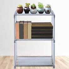 3 Tier Bookshelf Simple Assembled Non-woven Storage Rack Bookcase for Home Decor(China)