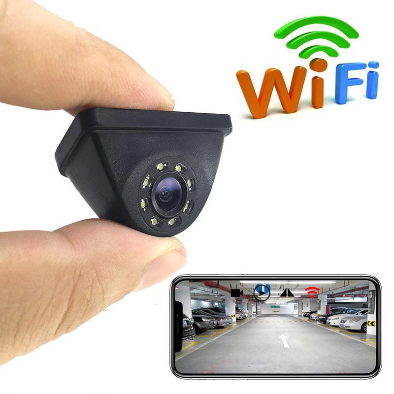 HD WIFI Reversing Camera Night Vision Car Rear View Camera Mini = Waterproof Driving Recorder For IPhone Android(China)