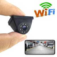 HD WIFI Reversing Camera Night Vision Car Rear View Camera Mini = Waterproof Driving Recorder For IPhone Android