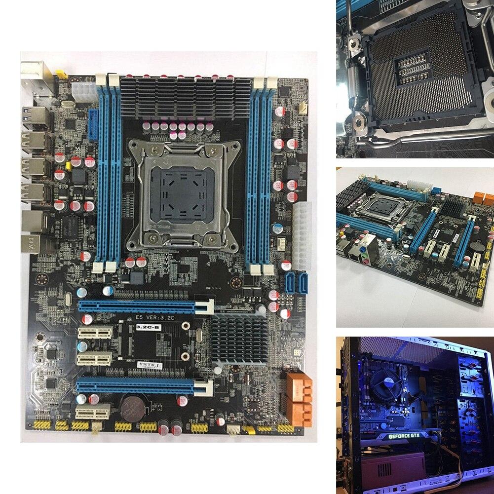 Carte principale ATX SATA 3.0 REG Ordinateur De Bureau 64g Turbo Boost LGA 2011 USB 3.0 Inter X79 Carte Mère Lumière DDR3 ECC