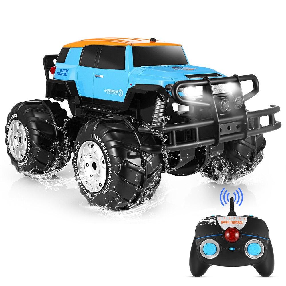 Jouet Rechargeable de camion de monstre de vélo de saleté amphibie à grande vitesse de voiture tout-Terrain tout-Terrain de RC de 1601 1:10 4WD pour des enfants