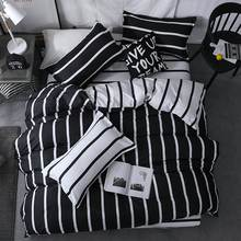 Black and white checkered king queen full twin size Bedding Set Duvet Cover Sets Include Duvet Cover Bed Sheet Pillowcase(China)