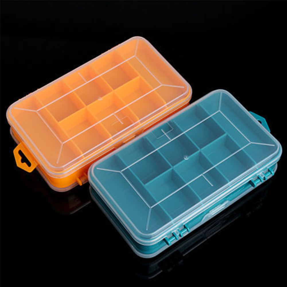 Double Side Plastic Storage Bead Organizer Screw Nails Holder Box Case Craft