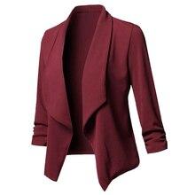 Blazers Women Office Work Wear Elegant Ladies Blazer
