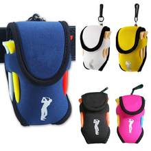Outdoor Portable Mini Golf Bag 4 Tees and 2 Balls Holder Neoprene Mini Waist Bag Sports Tool Pack Balls Tees Accessories #127(China)