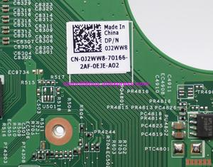 Image 4 - Orijinal CN 0J2WW8 0J2WW8 J2WW8 GT525 1 GB HM67 DDR3 için Dizüstü Anakart anakart Dell Inspiron 15R N5110 Dizüstü Bilgisayar