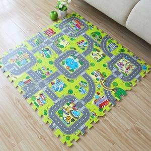 Image 2 - תינוק EVA קצף פאזל לשחק רצפת מחצלת עיר כביש חינוך שטיחים אריחי שלובים ילדים ציר תנועה קרקע כרית (לא קצה) NEEU