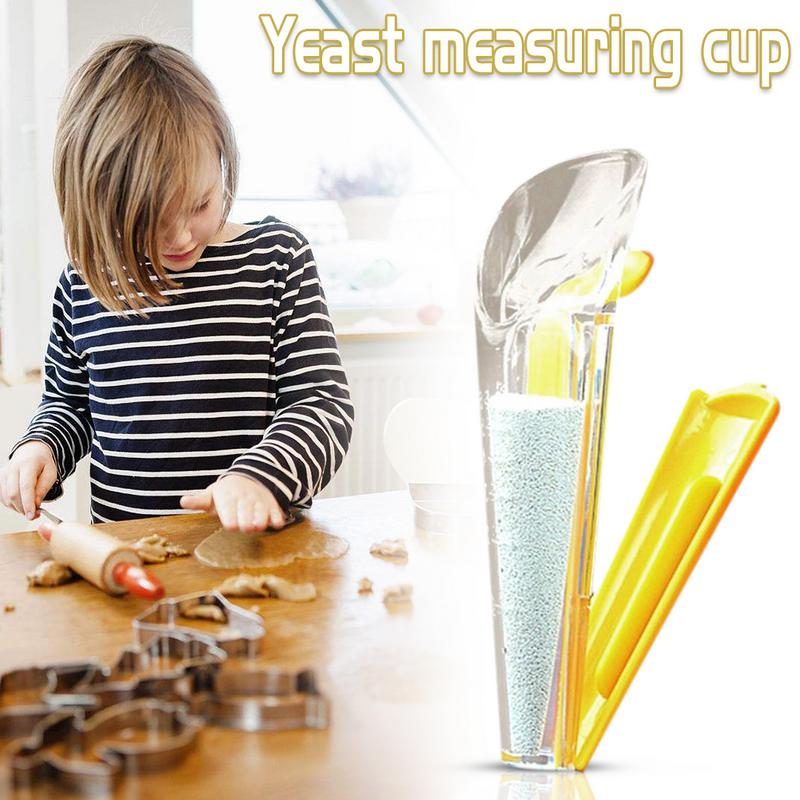1pcs Yeast Measuring Cup With Sealing Clip Clamp Meter Device Accuracy Cake Bread Baking Kitchen Tools