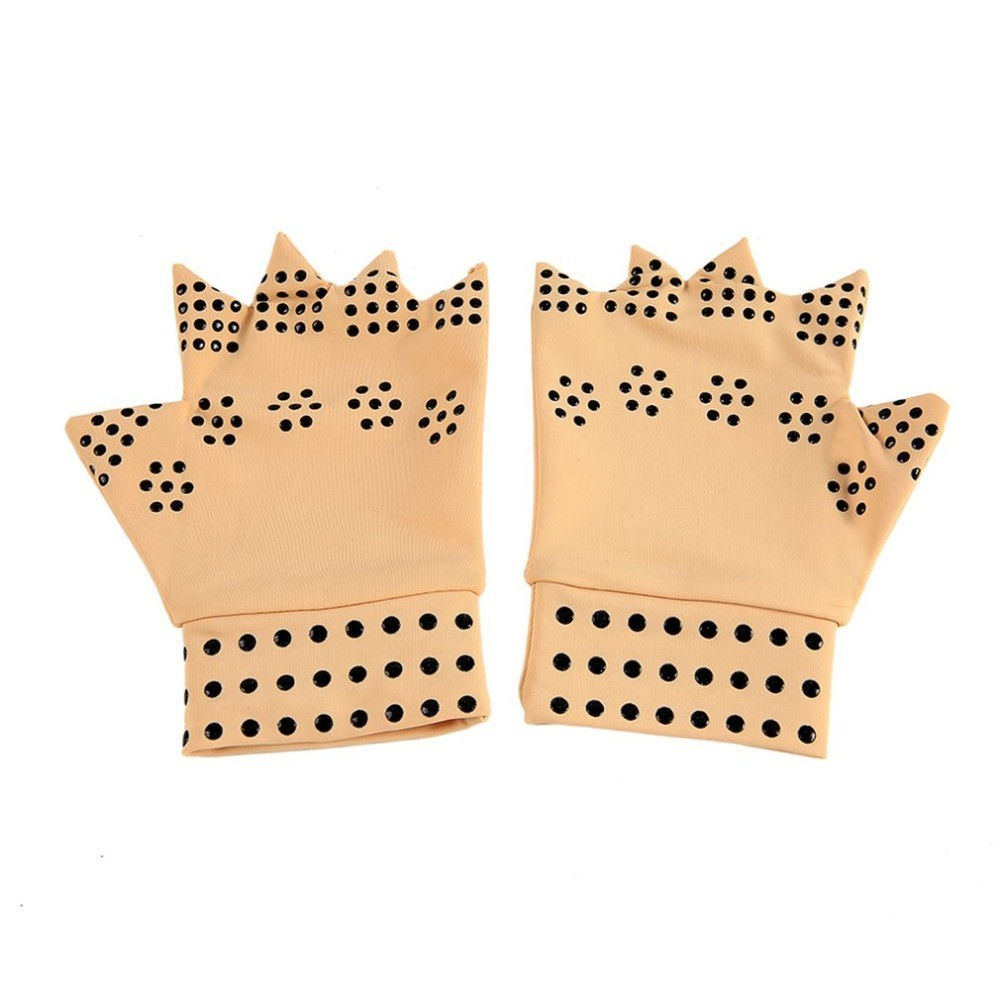 Latex Magnetic Therapy Gloves Health Care Semi-finger Elastic Joints Anti-edema Pressure Security Protective Gloves