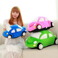 45cm Cute Car Model Plush Toys Dolls Stuffed Kids Birthday Gifts Green/Red/Pink/Blue(China)