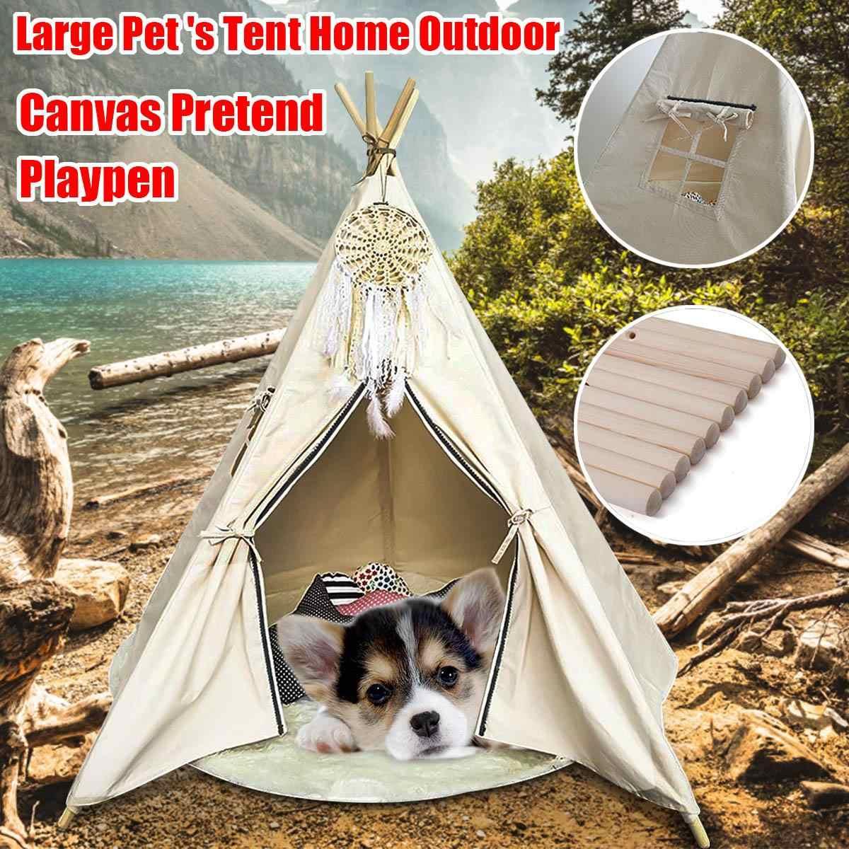 Outdoor Indoor Large Kids Princess Tent Net Children Canvas Pretend Play Tipi Adult Canopies Home Bedroom Decoration Accessories