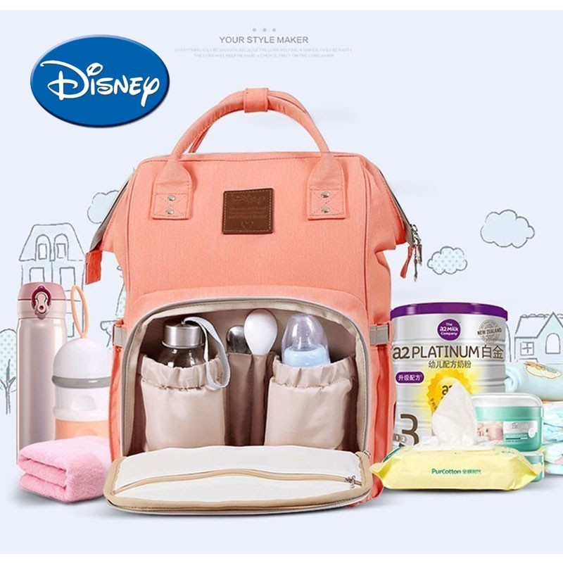 Disney Mummy Maternity Nappy Bag USB Waterproof Diaper Bag Travel Backpack Large Capacity Baby Care Bag  Mochila Maternidade