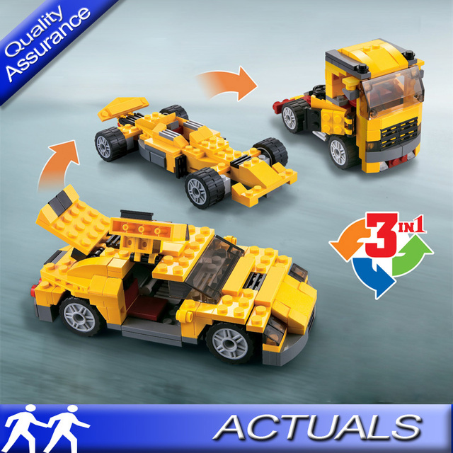 Compatible With Lego Decool Creator Cool Cars 3 In 1 Transformable 3113 Building Block Sets Car