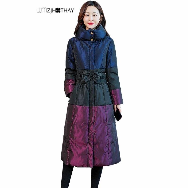 Hiver Col Mode Color Survêtement Vers Simple Veste Chaud Épaissir Casual Couture Nouveau Femelle Bas Picture Coton Mince Le Personnalité Tempérament IEDYW9H2
