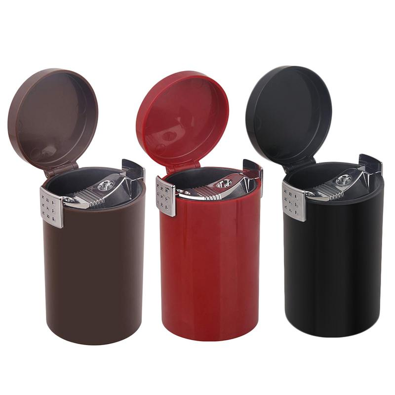 Portable Car Ashtray Closed Large Capacity Removable Trash Can Sundries Durable Storage Container Suitable For All ModelsPortable Car Ashtray Closed Large Capacity Removable Trash Can Sundries Durable Storage Container Suitable For All Models
