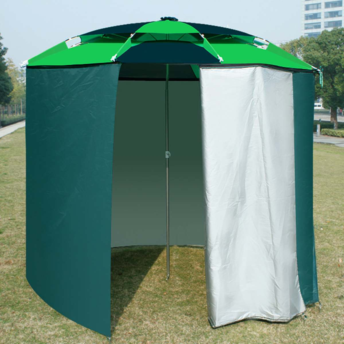 220cm Fishing Umbrella Outdoor Fastener Universal Garden Umbrella Beach Sunshade Rainproof Sunscreen Shelter All Round Tent