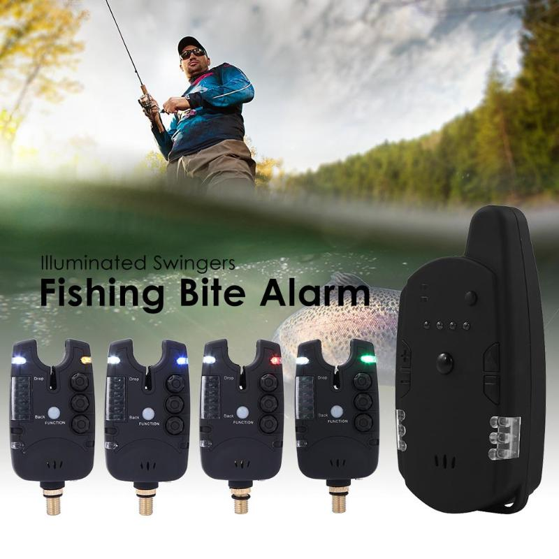Wireless Carp Fishing Bite Alarm Swinger Fishing Rod Illuminated Swingers Anti-off Bar Alert Set Fishing Rod Tackle  Tool