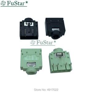 20 шт. PJ-307 PJ307 3,5 мм стерео разъем аудио разъем PCB 3F07 двухканальный мастер 3,5 мм аудио разъем черный зеленый