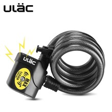 ULAC Bicycle Lock 1200mm*12mm bike Motorcycle Alarm Cable MTB Car Anti-theft 110dB High Quality