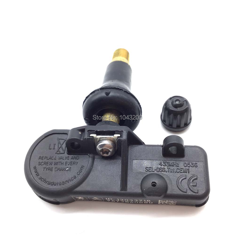 9673860880 New Tire Pressure Sensor TPMS SENSOR For Citroen B9 C4 Peugeot 307 308 433MHz in Pressure Sensor from Automobiles Motorcycles