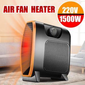 Image 1 - 220V 1500W Heater Draagbare Mini Elektrische Kachel Elektrische Thuis Verwarming Ventilator Handy Air Warmer Stille Home Office Handy heater