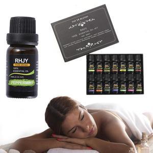 Image 5 - Huiles essentielles, Massage corporel biologique, Kit de soins pour la peau, diffuseurs daromathérapie à 100% pures, 14 pièces/ensemble, 10ml