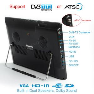 Image 2 - Leadstar D14 14 Inch Hd Draagbare Tv DVB T2 Atsc Digitale Analoge Televisie Mini Kleine Auto Tv Ondersteuning MP4 AC3 Hdmi monitor Voor PS4