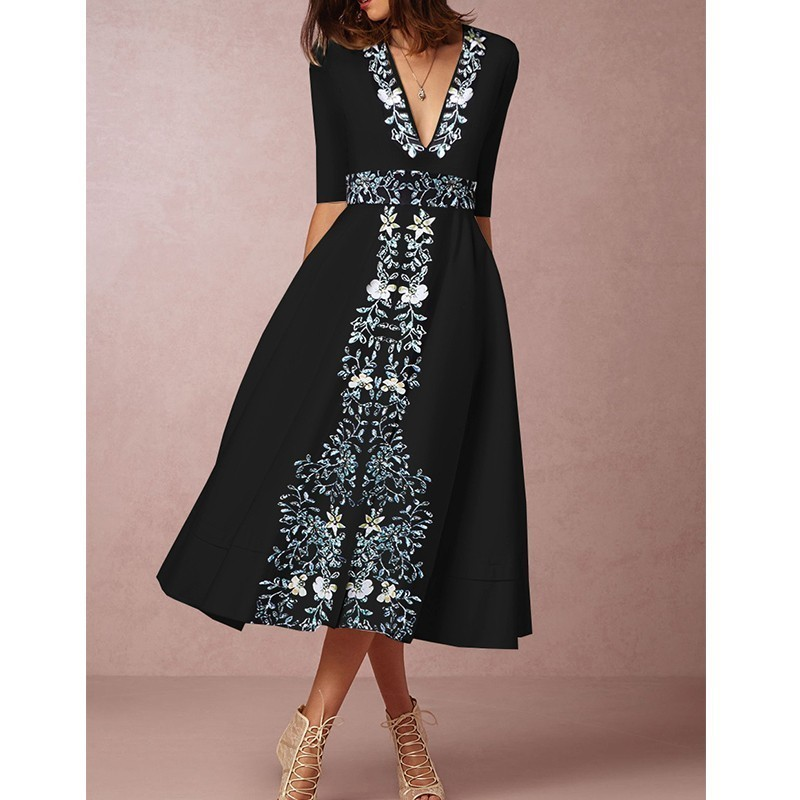 Maternity Womens Cocktail Dress V Neck Pregnancy Clothes Party Long Dresses USA