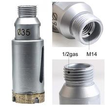 Арбор M14 внутренний/1/2 газовый наружный диаметр 1-3/8 дюйма 35 мм алмазное долото для мокрого фрезерования и сверления камня