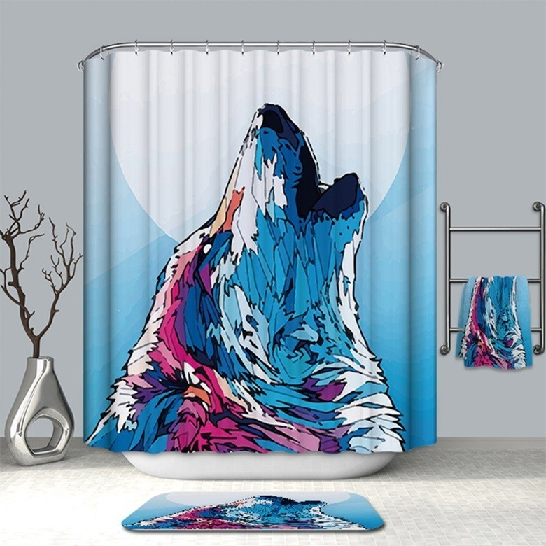 Image 5 - VOZRO Bath Natural Quality Of Bathroom Waterproof Totem Animal Farm Miniatures Bape Pascoa Simple Shower Curtain Douchegordijn-in Shower Curtains from Home & Garden