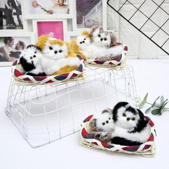 Creative Plush Toy Soft Stuffed Dog Toy Touch Screaming Red Cloth Basket Double Dog Doll Cute Simulation Dogs Doll Собака