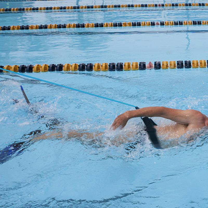 3 4M Swim Bungee Training Belt Swimming Resistance Safety Leash Exerciser Tether
