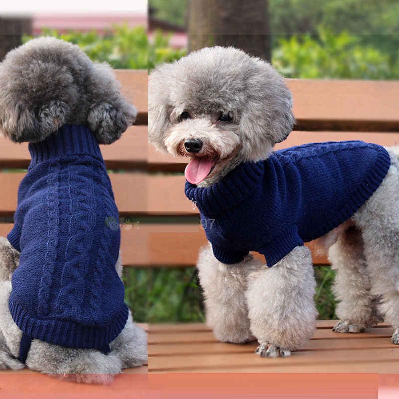 קטן לחיות מחמד כלב חתול סרוג Jumper חורף סתיו חם סוודר גור מעיל מעיל בגדים