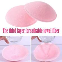 2pcs/lot Pregnancy Women Nursing Bra Pads Thick Nursing Pads Cotton Thick Breast Washable Maternity Breast Feeding Pads Reusable(China)